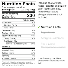 Nutrition Labels Template Aggregate Only Nutrition Facts Label Templates Food Labeling