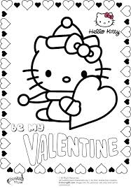 Hello Kitty Valentine Coloring Pages Coloring Cute Valentine