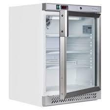 tefcold under counter chiller white glass door ur200g