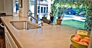 concrete countertop in the kitchen