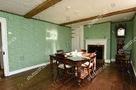 dining room replica wallpaper on walls ...