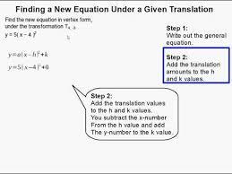 new equation in vertex form