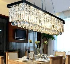 rectangle chandelier modern contemporary rectangle rain drop crystal chandelier for dining room suspension lamp lighting fixture
