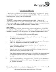Chronological Resume Templates Free Format Of Chronological Resume ...