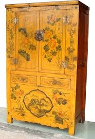 how to paint lacquered furniture. Asian Rare Yellow Lacquered Painted Flowers Antique Chinese Chinoiserie Cabinet Asian-bedroom How To Paint Furniture N