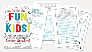 Printable Worksheets for Vacation Fun & Learning