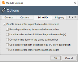 Sales Order Fishbowl