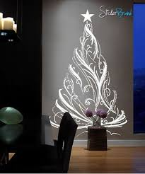 Vinyl Wall Decal Sticker Christmas Tree Custom 12ft Tall Decor