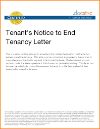5 End Of Lease Letter To Tenant From Landlord Sales Slip Template