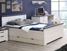 Jugendzimmer Gaston 63 Weiß Grau 5 Teilig Schlafzimmer Schneeeiche