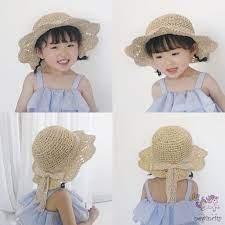 Mũ cói chống nắng thắt nơ phong cách Hàn Quốc thời trang đi biển mùa hè cho  bé gái Dumi Shop giảm tiếp 79,000đ