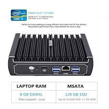 HYSTOU FMP07B 6 Ethernet LAN <b>Fanless Pfsense Mini PC</b> Intel ...