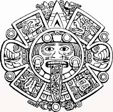 Small Picture Aztec Calendar Stone Coloring Pages Pinteres