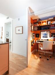 traditional hidden home office. farmhouse office decor home contemporary with hidden orange walls traditional a