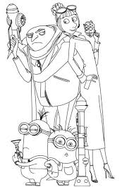 Small Picture Despicable Me Coloring Pages Online aecostnet aecostnet