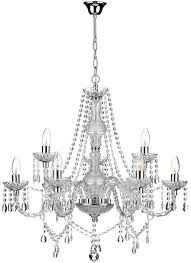 dar katie traditional 9 light acrylic crystal chandelier chrome