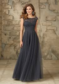 Long And Elegant Lace And Tulle Bridesmaid Dress Style 111 Morilee