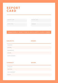 Report Card Template Pdf Customize 10 016 Report Card Templates Online Canva