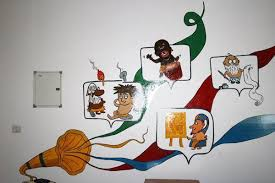 office wall painting. office cafe wall painting - adglobal360 p