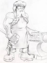 blacksmith drawing easy. pin drawn dwarf blacksmith #4 drawing easy