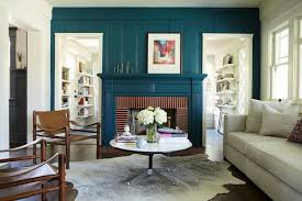 teal fireplace eclectic living room simo design living room ideas with red brick fireplace decorating