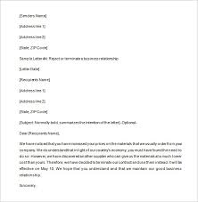 sales rep termination letter 9 partnership termination letter templates free sample example