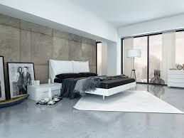 this elegant master bedroom has a distinctly urban and masculine feel the marble floor and headboard wall reinforce the tonal design direction