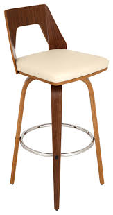 mid century modern stools. Trilogy Bar Stool, Walnut And Cream Midcentury Mid Century Modern Stools L