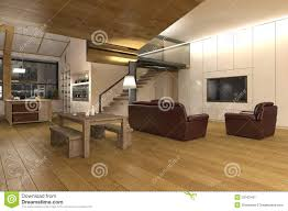 Open Plan Living Kitchen Living Room Large Open Plan Living Room Kitchen Stock Illustration Image
