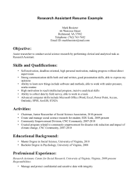 Fair Resume Research Assistant No Experience For Dental Assistant