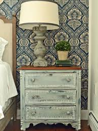Shabby chic nightstand Bedroom Shabby Chic Rustic Painted Nightstand Coconutconnectionco Give Plain Nightstands Rustic Charm With Milk Paint Hgtv