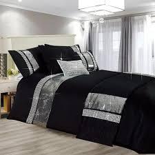 luxury sparkle shimmer black duvet