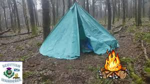 diy tent wild camping scotland winter tee homemade tent tarp tent