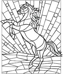 Mosaic Coloring Page Mosaic Coloring Pages Horse Coloring Pages For