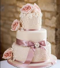 3 Tier Cake With Beautiful Flowers And Scroll Work Sri Lanka