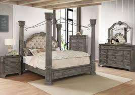 siena king size bedroom set gray