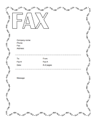 Gallery Of Fax Cover Sheets Microsoft