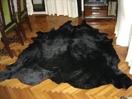 black hide rug dyed black cowhide rug rugs product on small black and white cowhide rug