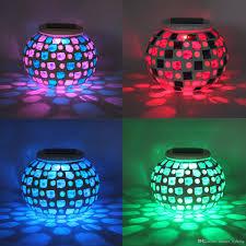 Color Changing Solar Garden Lights Moonrays Solar Powered LED Solar Mosaic Garden Lights