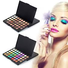 details about 40 colors cosmetic powder eyeshadow eye shadow palette makeup shimmer set matt