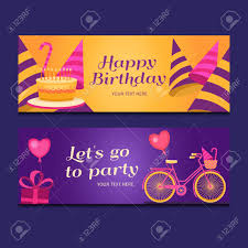 Happy Birthday Sign Templates Happy Birthday Banners Collection Set Of Greeting Templates