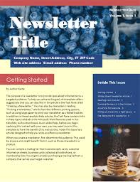 Newsletters Templates Newsletters Office Com
