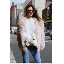 faux fur coat plus size plus size winter women faux fur coat pink overcoat long hair