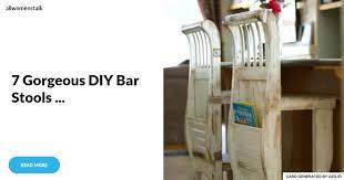 homemade bar stools building outdoor bar stools