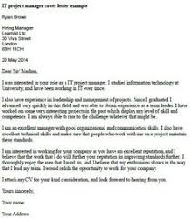 it project manager cover letter example sample cover letters uk