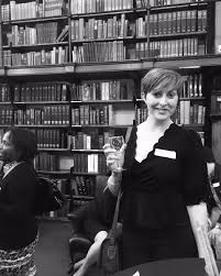"""Hattie Clarke on Twitter: """"And here's me last night at the @TheLondonLib  launch drinking all the wine in front of some old tomes 🥂 thanks  @altaipilgrim for capturing the moment #EmergingWriters…  https://t.co/lNnAGwbfbK"""""""