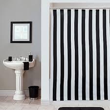 striped shower curtain black white obsession ricci alexis horizontal striped shower curtain deshhost club
