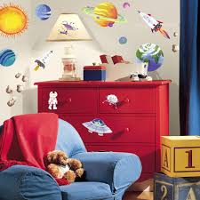 Space Bedroom Wallpaper Roommates Outer Space Peel And Stick Wall Decals Walmartcom