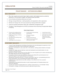 Project Manager Skills Summary Resume It Resumes Reference