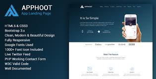 Apphoot - Responsive App Landing Page Template by webmechanicx ...